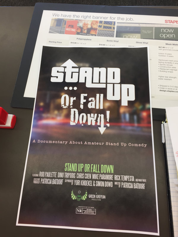 The official film poster for STAND UP OR FALL DOWN
